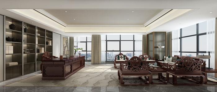 杭州控股集团总经理办公室装修设计效果图