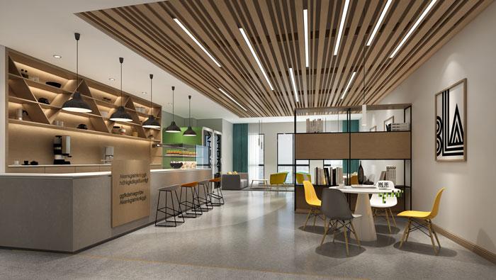 杭州环保公司办公室装修设计效果图_岚禾办公室设计