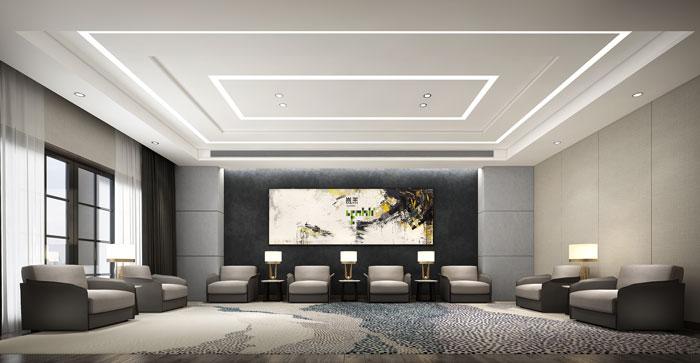 杭州环保公司办公室接待室装修设计效果图图片