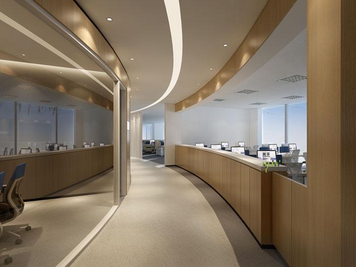 杭州器材公司办公室走廊装修效果图