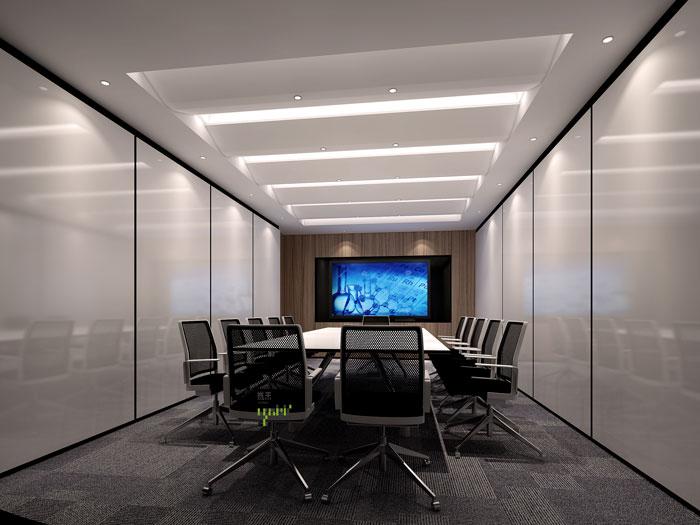 本次为杭州器材公司办公室装修效果图,办公室设计面积1670平方