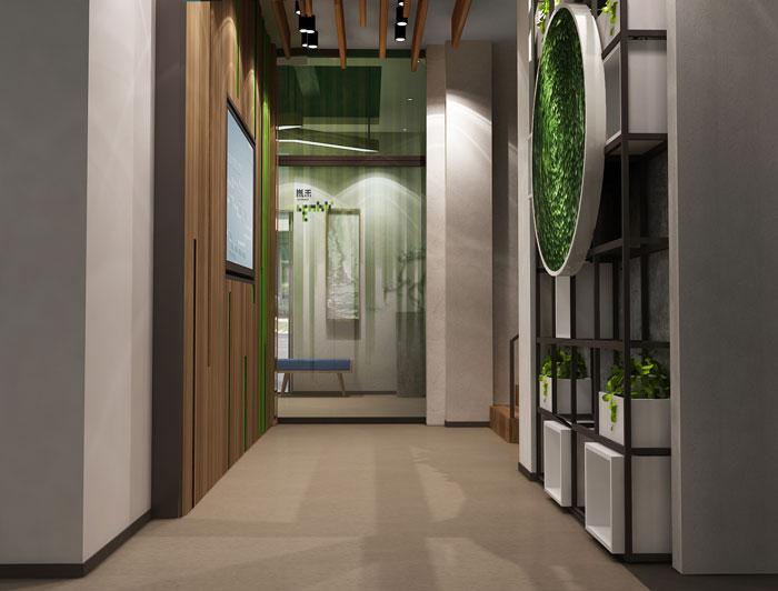 杭州科技公司办公楼过道装修设计效果图