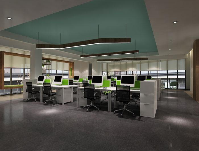杭州科技公司办公楼办公区装修设计效果图