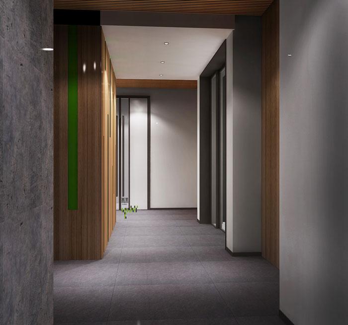 杭州科技公司办公楼走廊装修设计效果图
