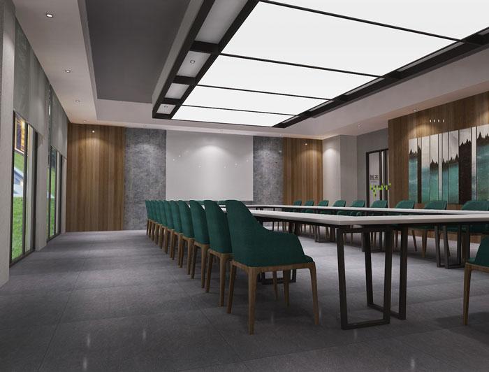 杭州科技公司办公楼会议室装修设计效果图