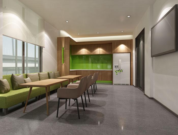 杭州科技公司办公楼茶水间装修设计效果图