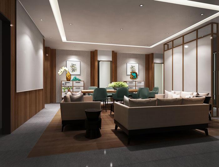 杭州科技公司总经理办公室装修设计效果图