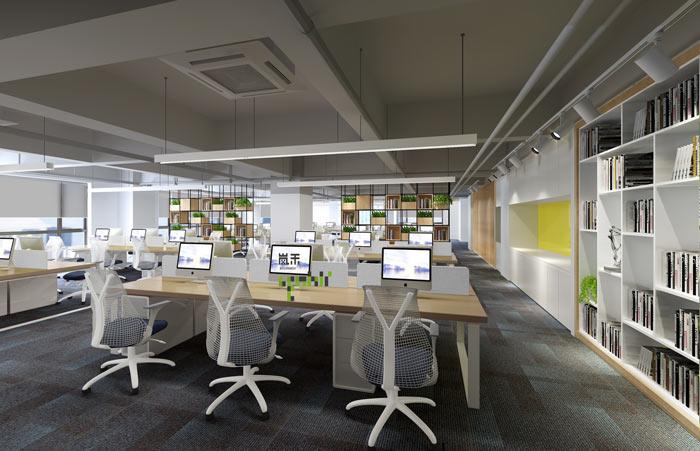 杭州科技公司办公室装修设计效果图