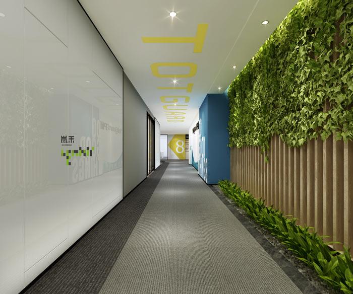 杭州科技公司办公室过道装修设计效果图
