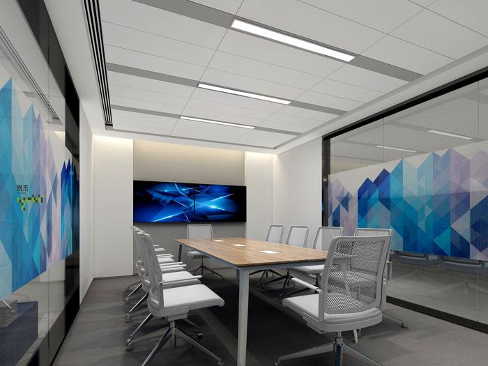 网络公司办公室装修设计效果图