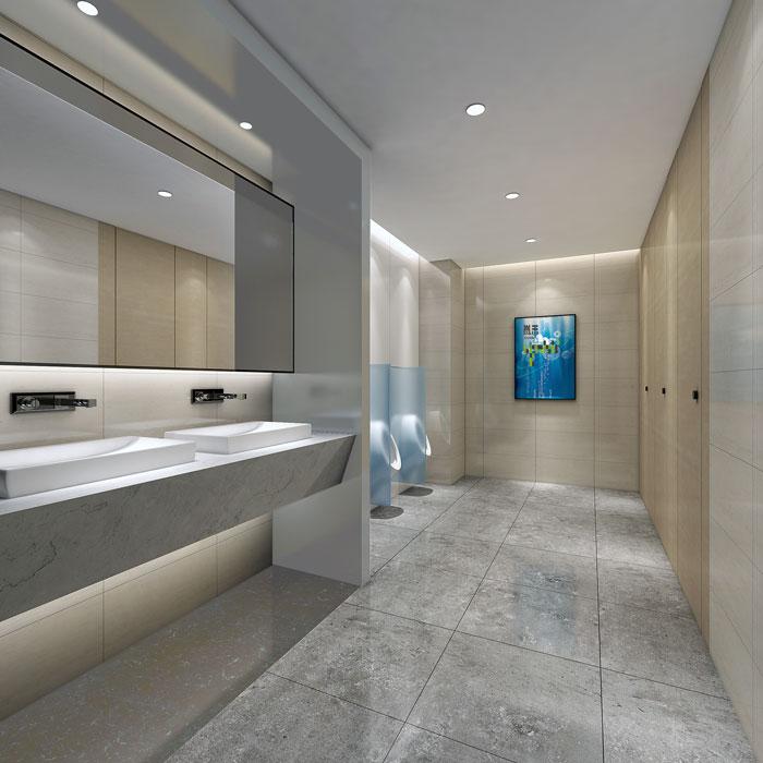 网络公司办公室卫生间装修设计效果图