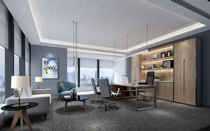网络公司总经理办公室装修设计效果图