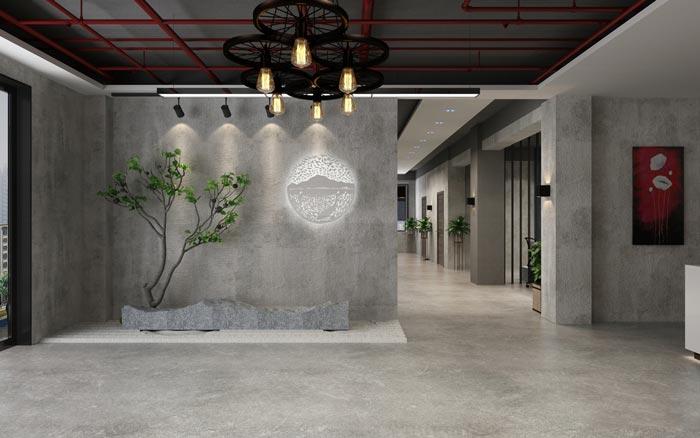 工业风办公室隔墙设计效果图