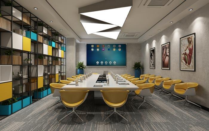 工业风办公室会议室设计效果图