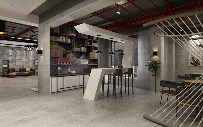 工业风办公室茶水间设计效果图