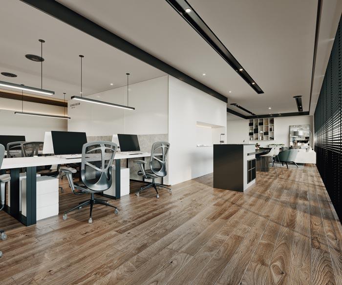 办公室办公区装修改造效果图