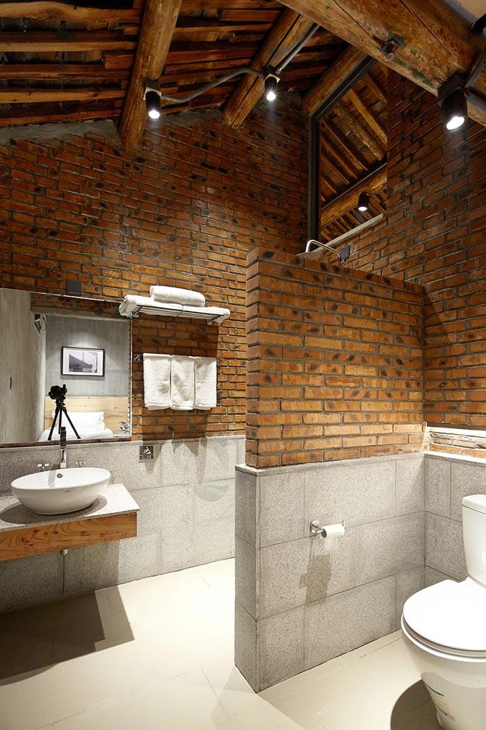 景区三合院民宿洗手间设计效果图