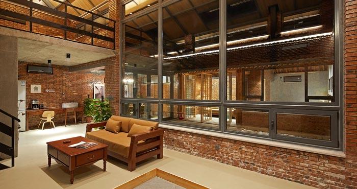 景区三合院民宿客厅设计效果图