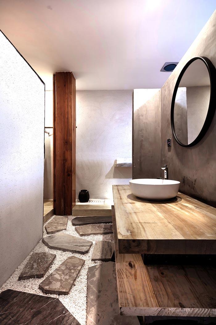 简约民宿洗手间装修设计效果图
