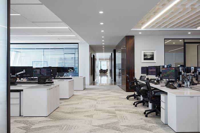 分公司办公室办公区装修设计效果图