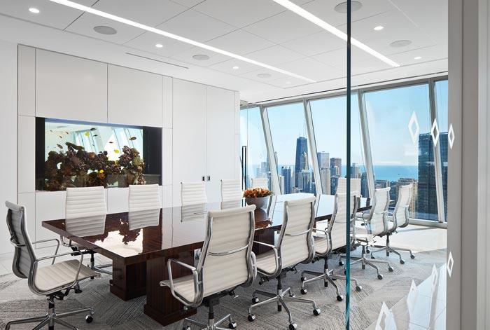 分公司办公室会议室装修设计效果图