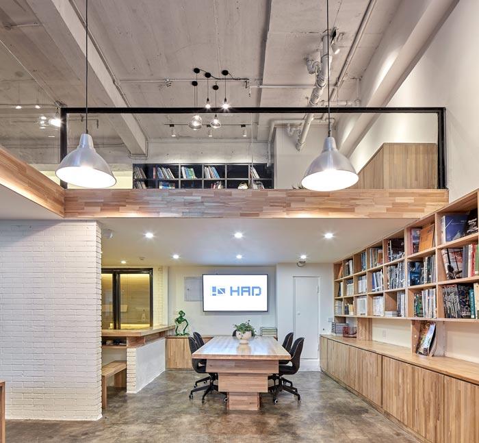 5.4米层高办公室会议室装修设计效果图