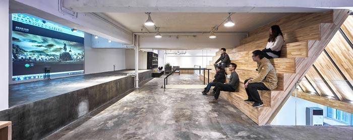 5.4米层高办公室多功能室装修设计效果图