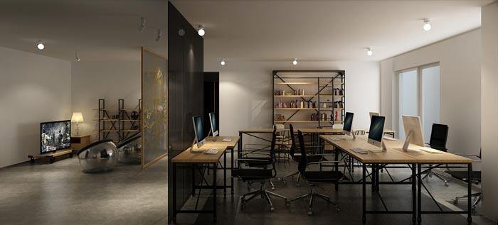 办公室平面式吊顶效果图