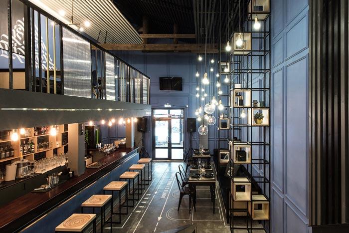 233平方工业风酒吧入口设计方案