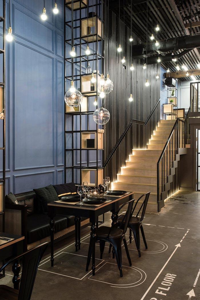 233平方工业风酒吧吧台设计方案