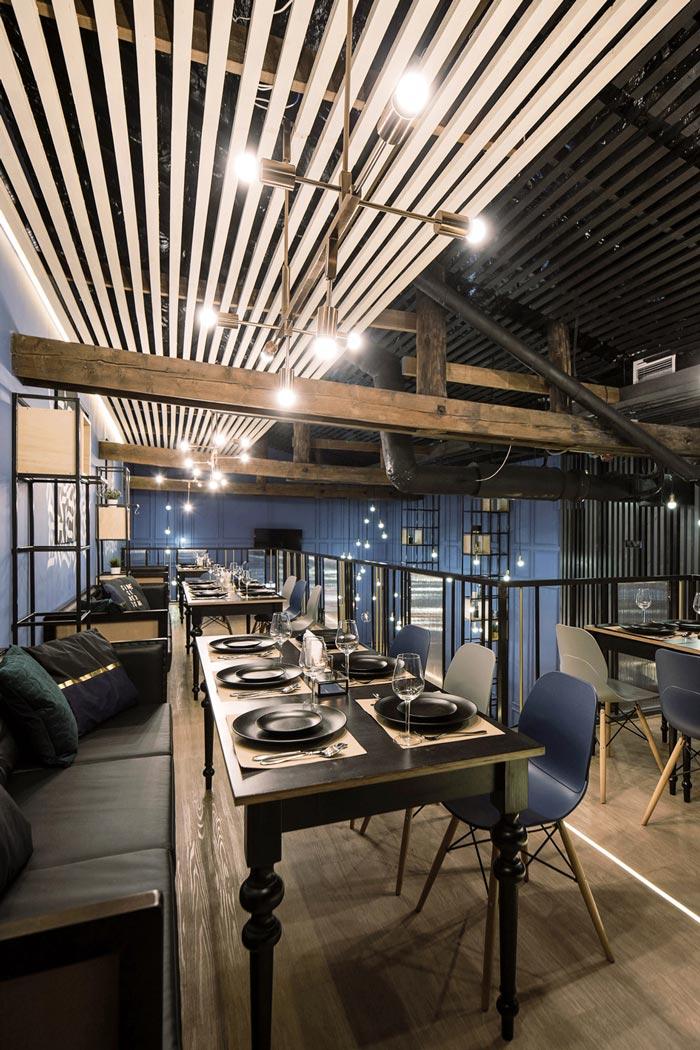 233平方工业风酒吧二楼设计方案
