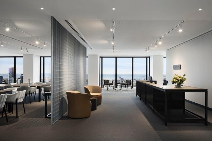 1800平方办公室前台装修设计效果图