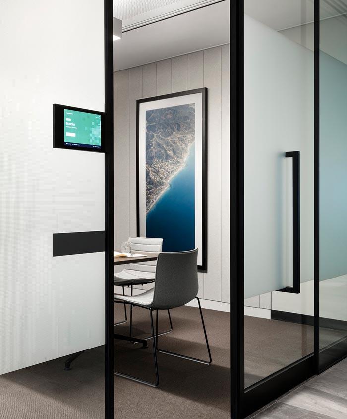 1800平方办公室会议装修设计效果图