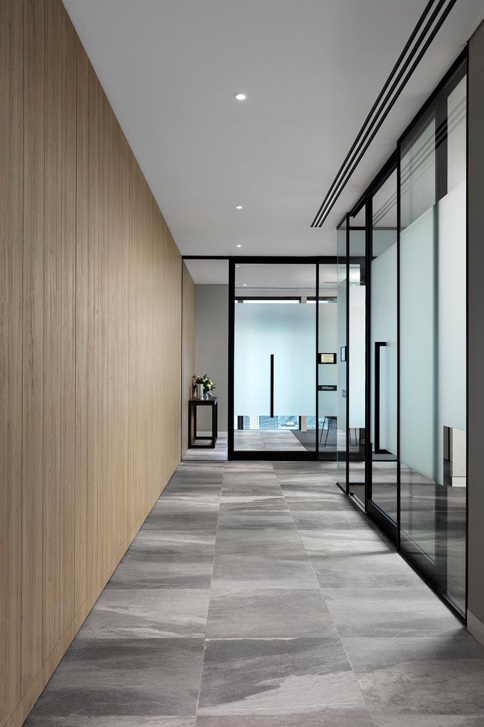 1800平方办公室走廊装修设计效果图