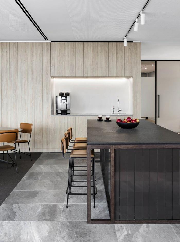 1800平方办公室吧台装修设计效果图