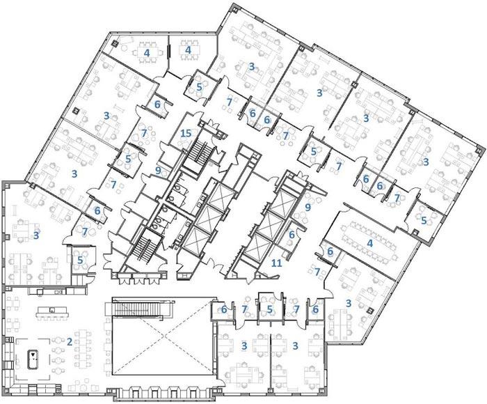 微软研发中心设计一层平面图