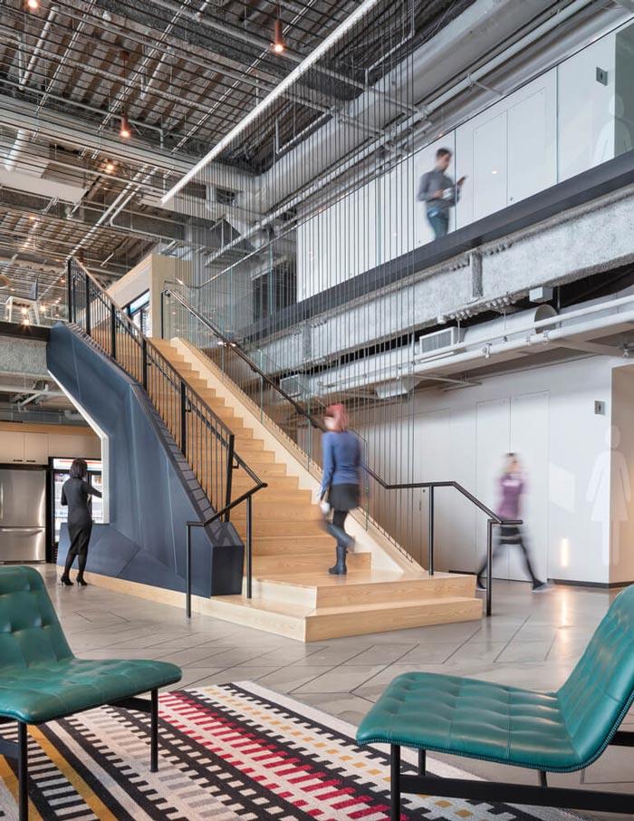 微软研发中心大厅装修设计效果图