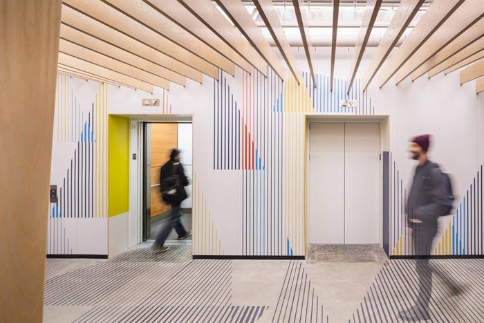微软研发中心电梯间装修设计效果图