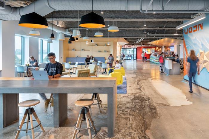 微软研发中心独立办公区装修设计效果图