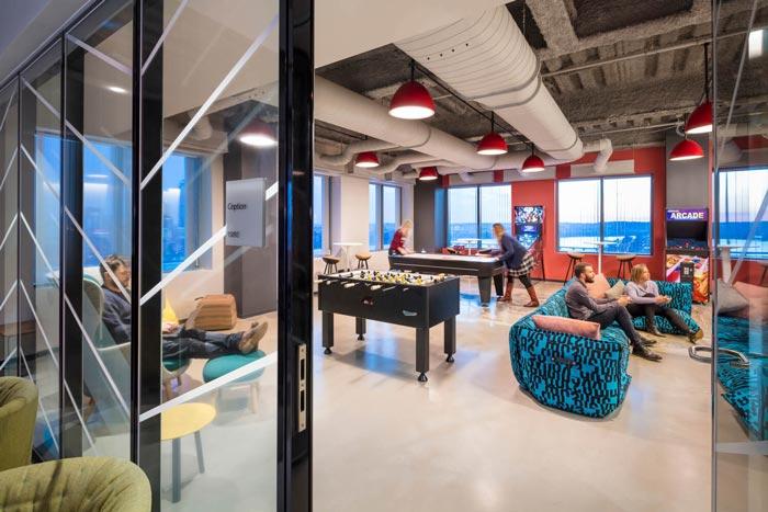 微软研发中心休闲区装修设计效果图