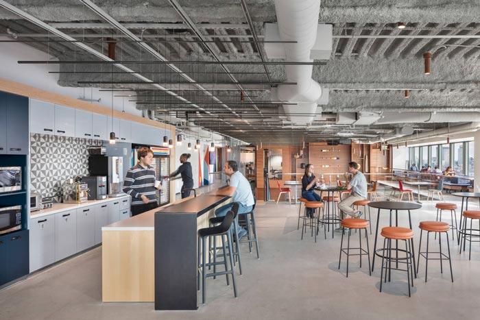 微软研发中心吧台装修设计效果图